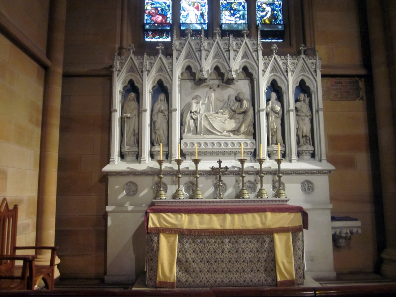Altar dedicated to St Joseph in the northern side chapel
