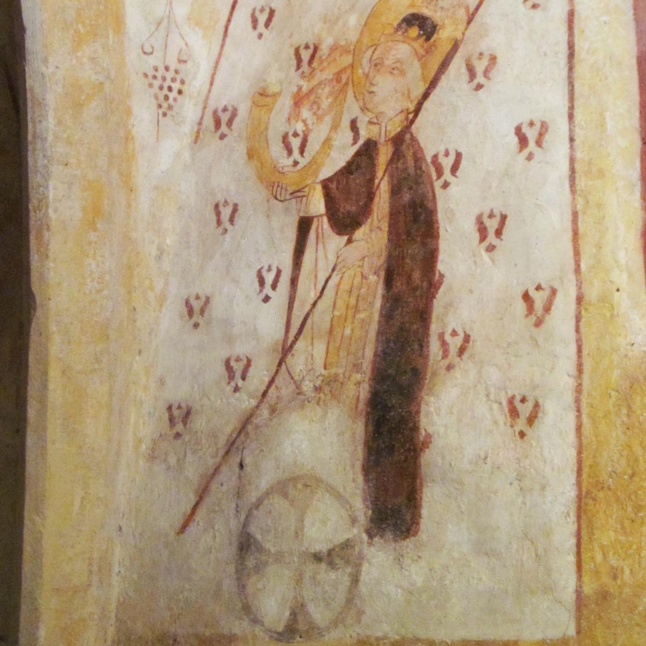 Fresken 15. Jh: Hl. Cornelius, Weihekreuz