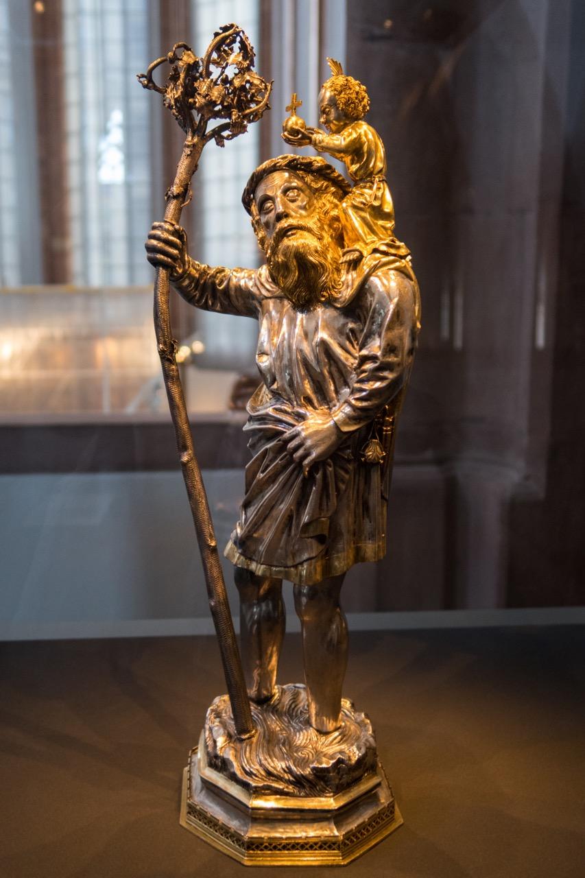 Münsterschatz: Christophorus-Statuette, 15. Jh.