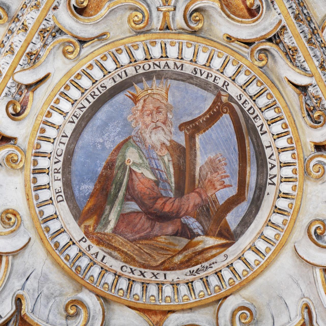 Stuckdecke, Detail (König David)