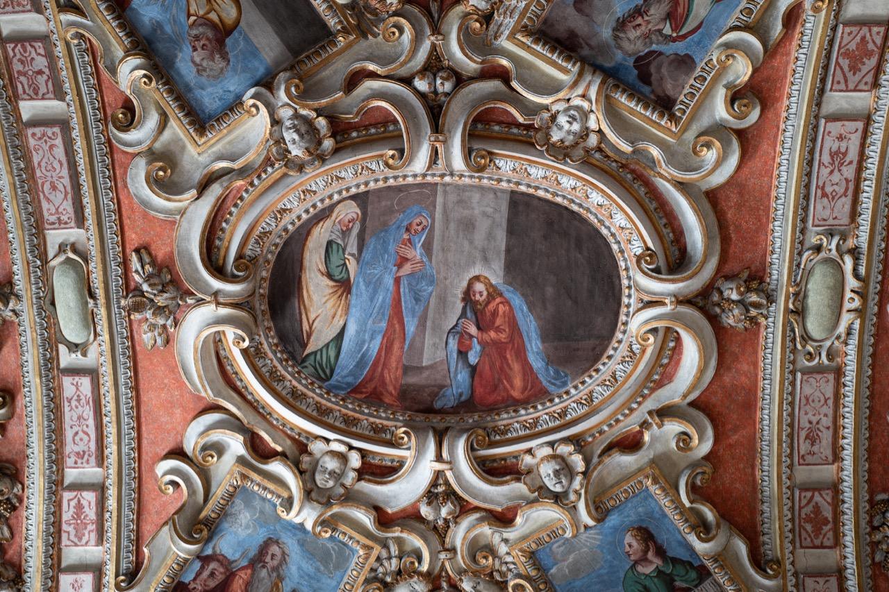 Stuckdecke, Detail (Maria und Jesus)