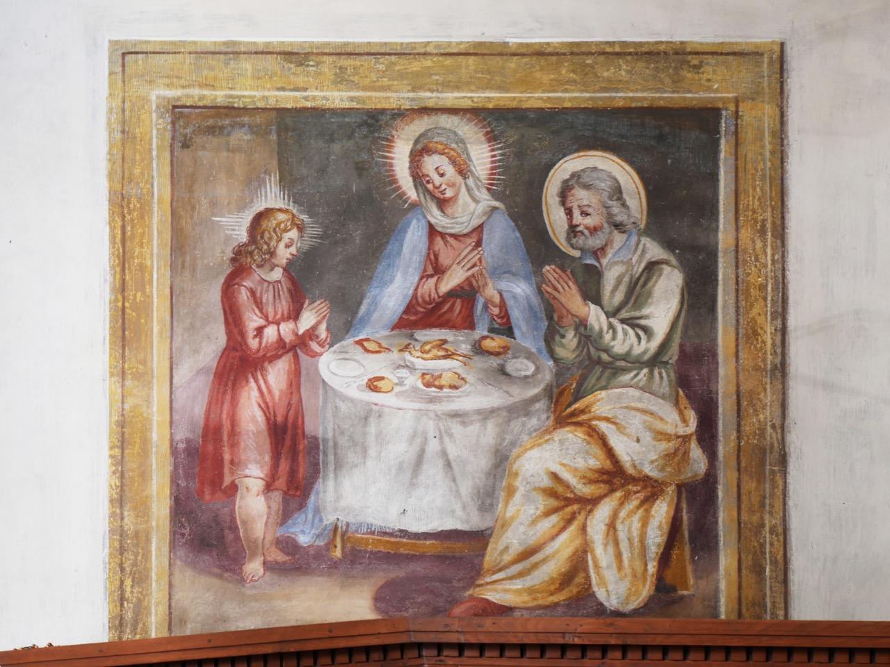 """Fresko """"Heilige Familie beim Mahl"""""""
