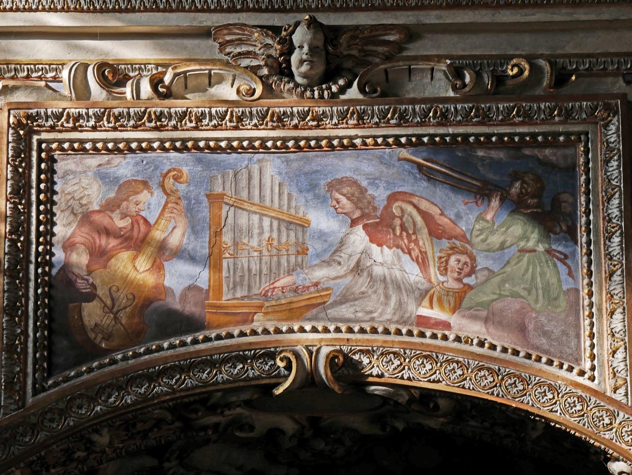 Musikanten an der Orgelempore