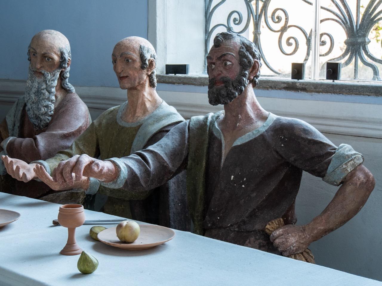 Abendmahlskapelle, Stuckfigur des Judas (17. Jh.)