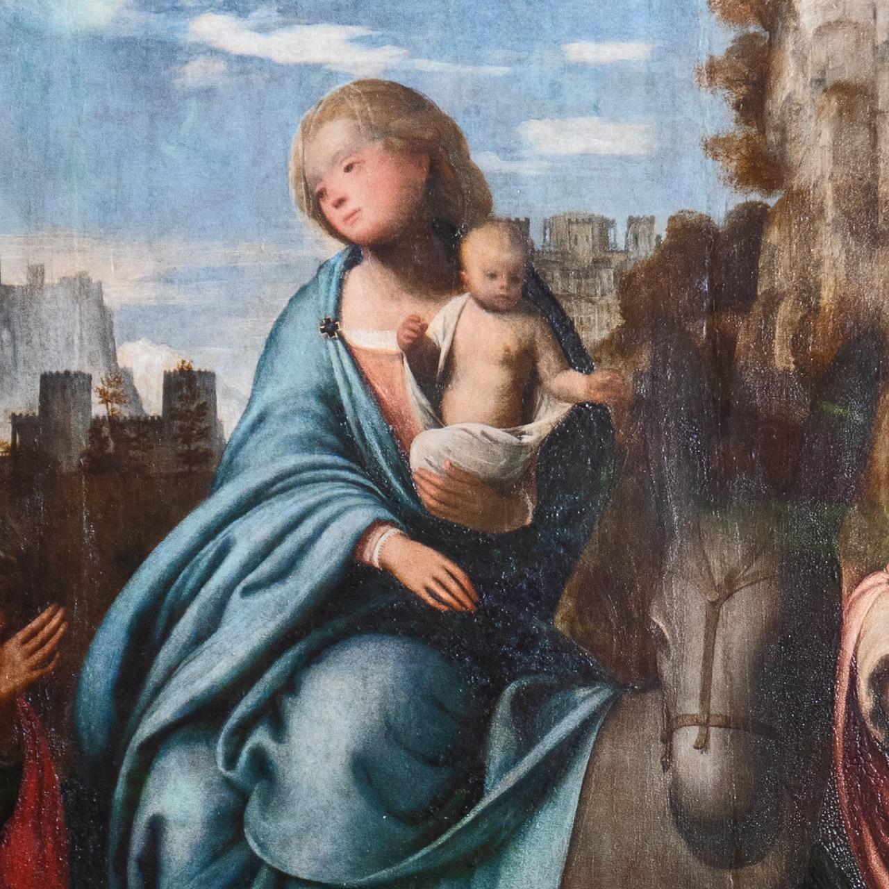 """Gemälde """"Flucht nach Ägypten"""" (Bartolomeo Suardi, gen. Bramantino, ca. 1515–1520), Detail"""
