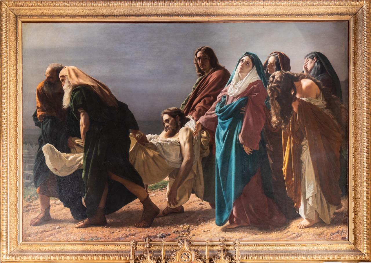 "Gemälde ""Grablegung Christi"" (Antonio Ciseri, 1864–1870)"
