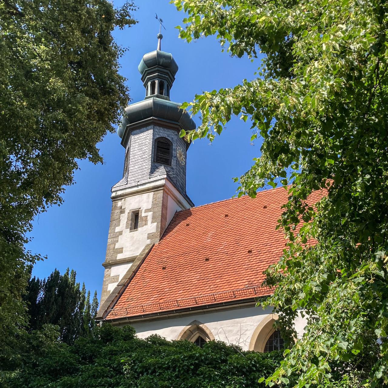 Blick auf den Turm von Süden