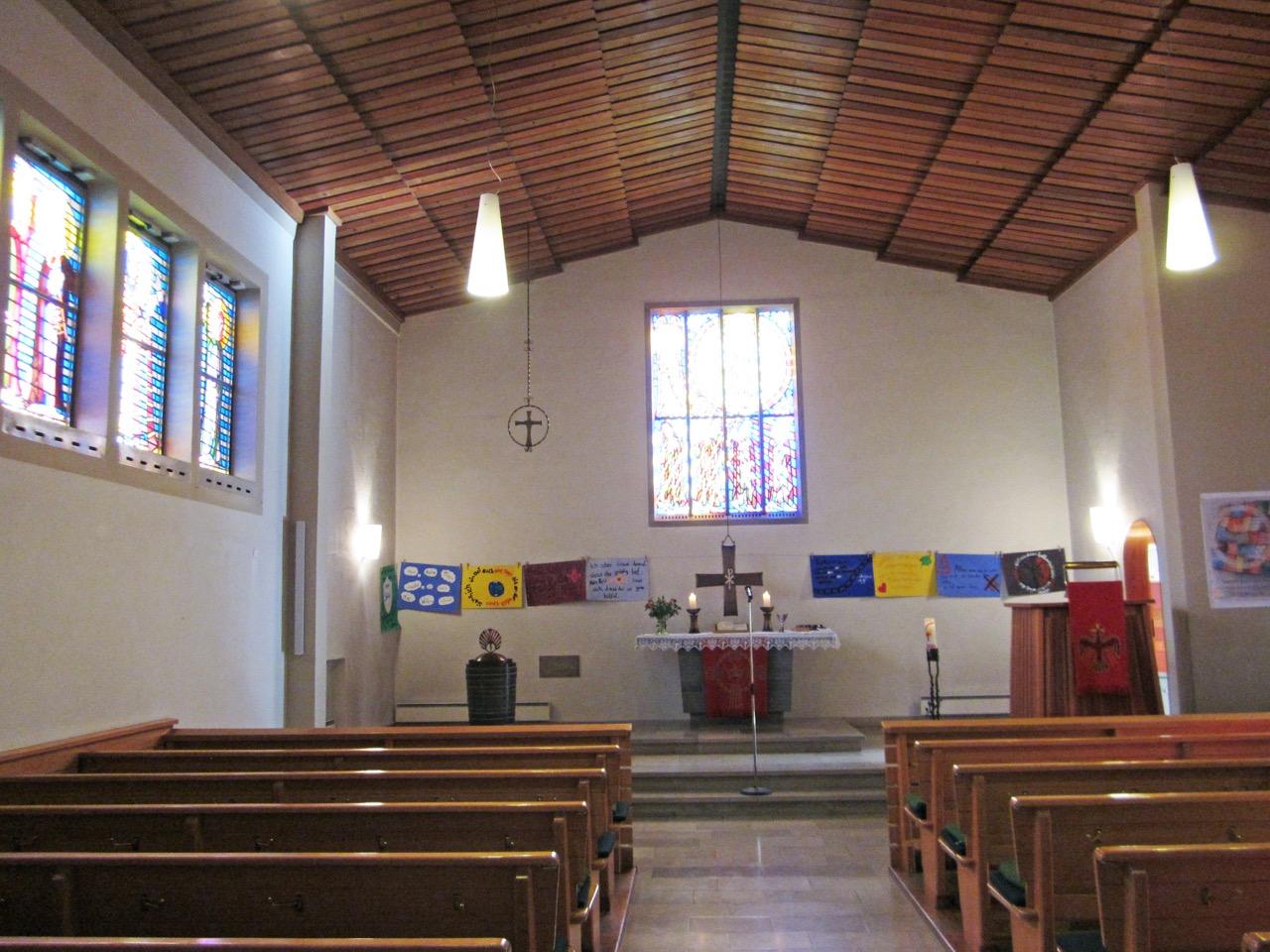 Christuskirche Aichelberg, Innenansicht