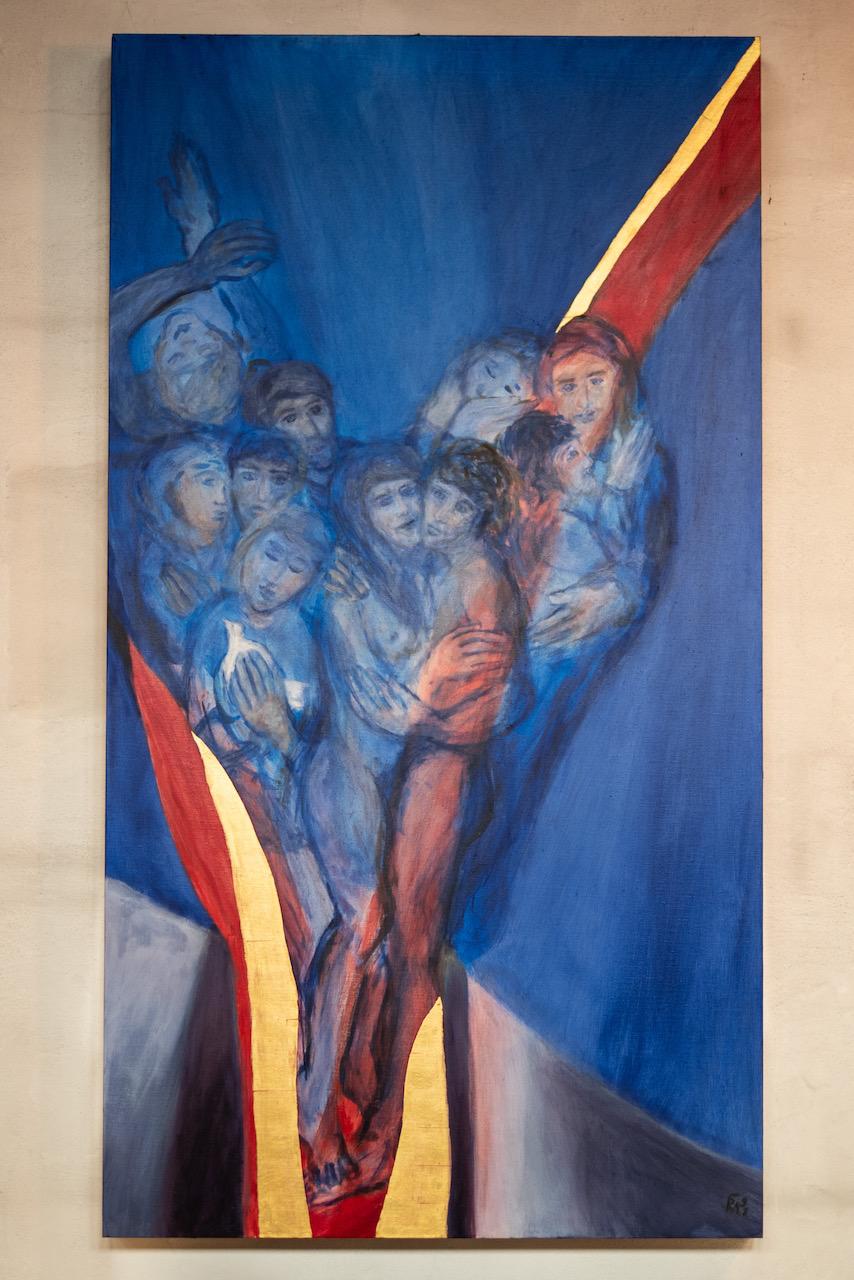"""Tafelbild """"Ich bin der Weinstock"""" (Raphael Seitz, 1991)"""