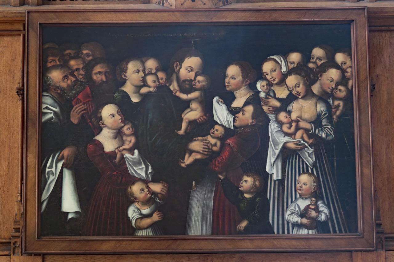 "Altarbild ""Christus segnet die Kinder"" im Ostchor (1531/40)"