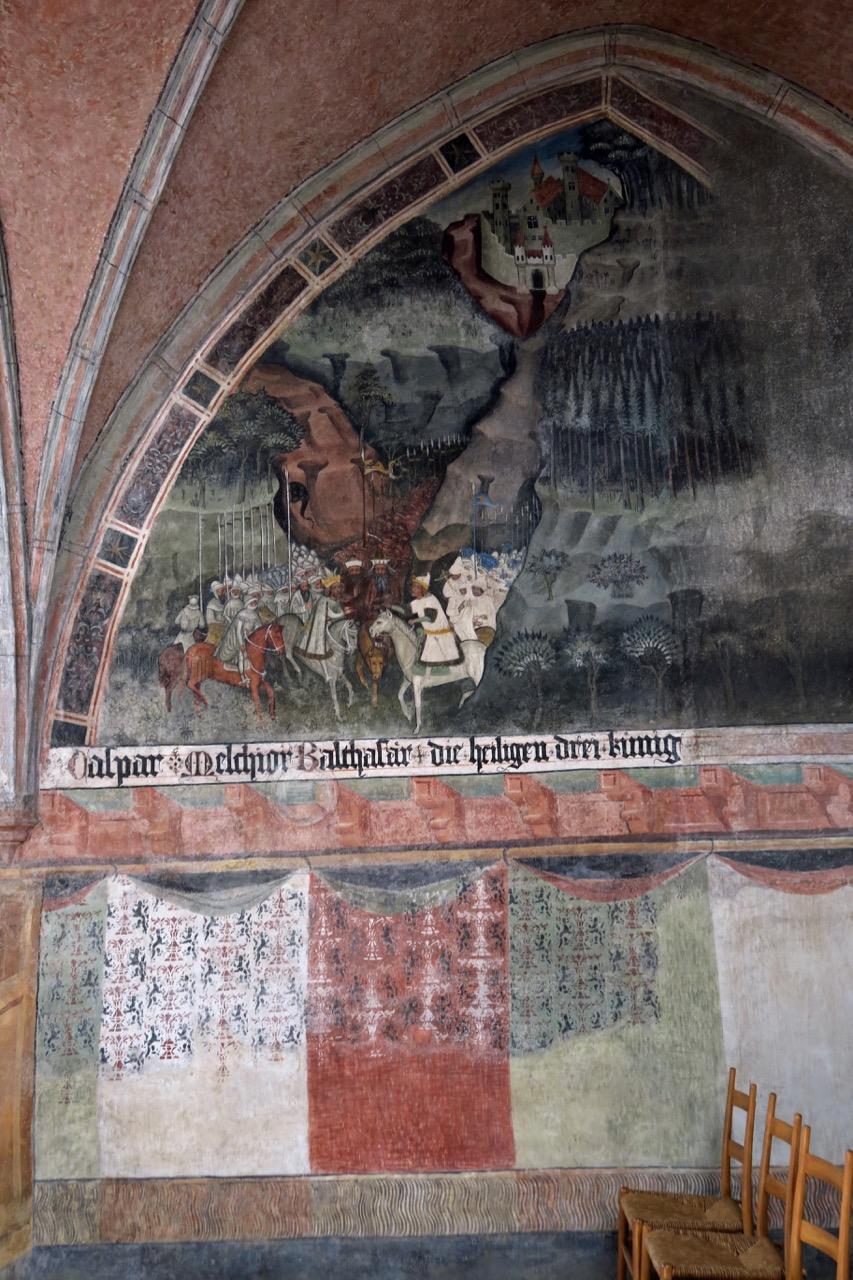 """Fresko """"Caspar Melchior Balthasar die heiligen drei könig"""" (als Heerführer) in der Goldschmiedekapelle"""