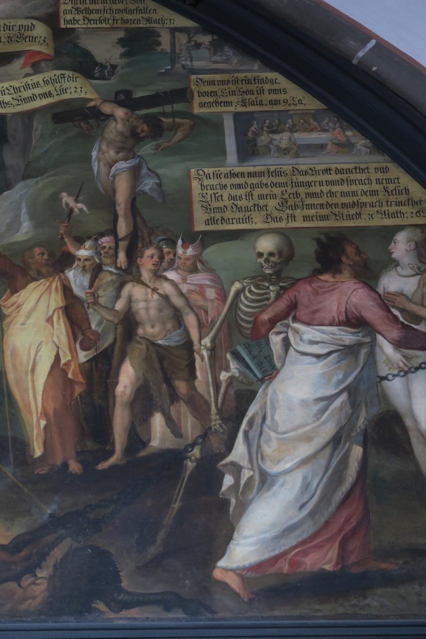 Allegorie der Erlösung im Kreuzgang (1576, Ausschnitt)