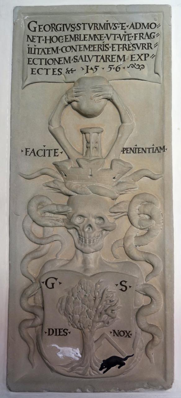Grabplatte des Georg Sturm (1556)