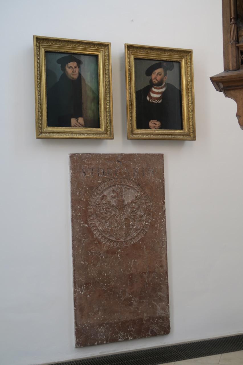 Porträts von Martin Luther und Johann Friedrich von Sachsen (1529/32)