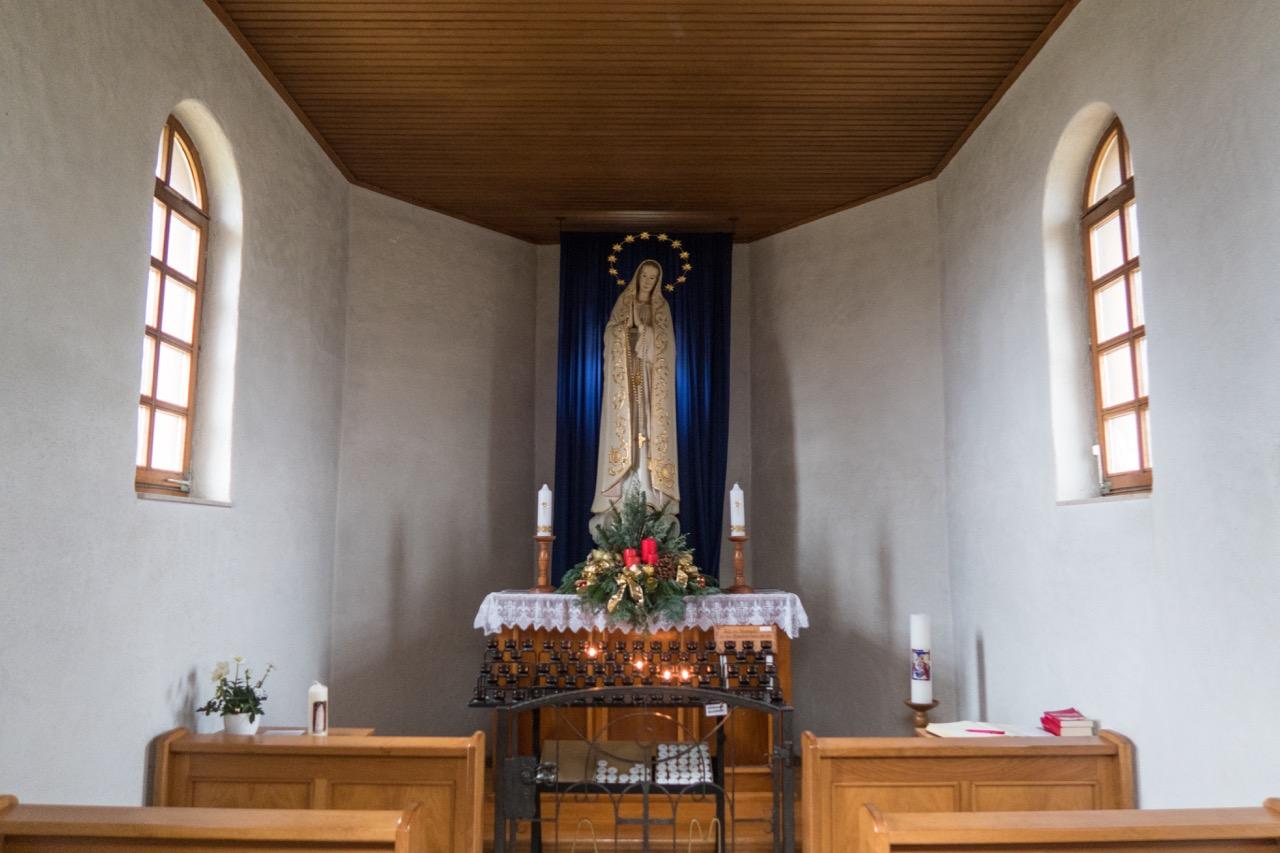Kapelle Maria Hügel, Innenansicht