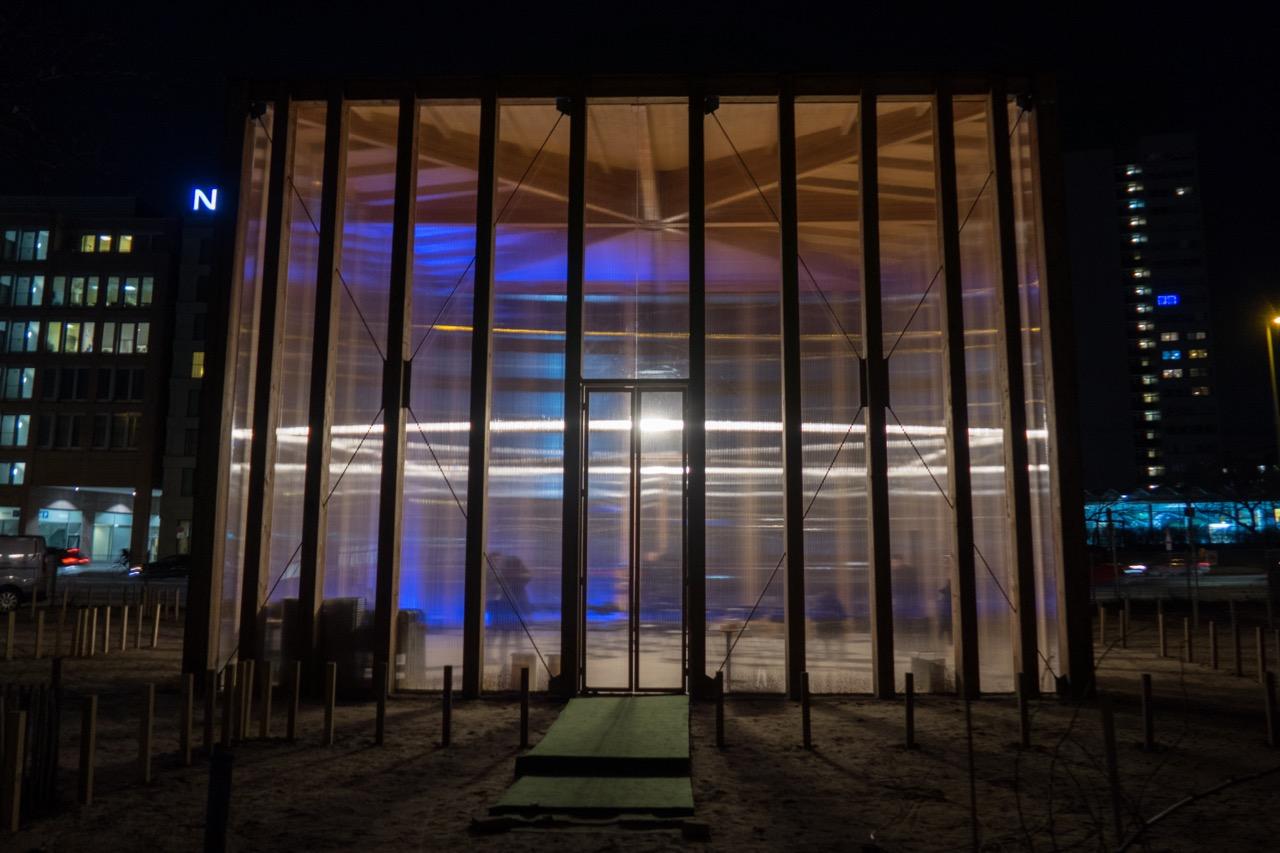 House of One, provisorischer Pavillon, Außenansicht von Nordwesten