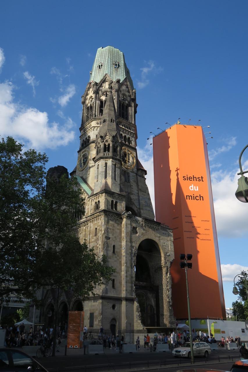 Türme während des 36. Deutschen Evangelischen Kirchentags