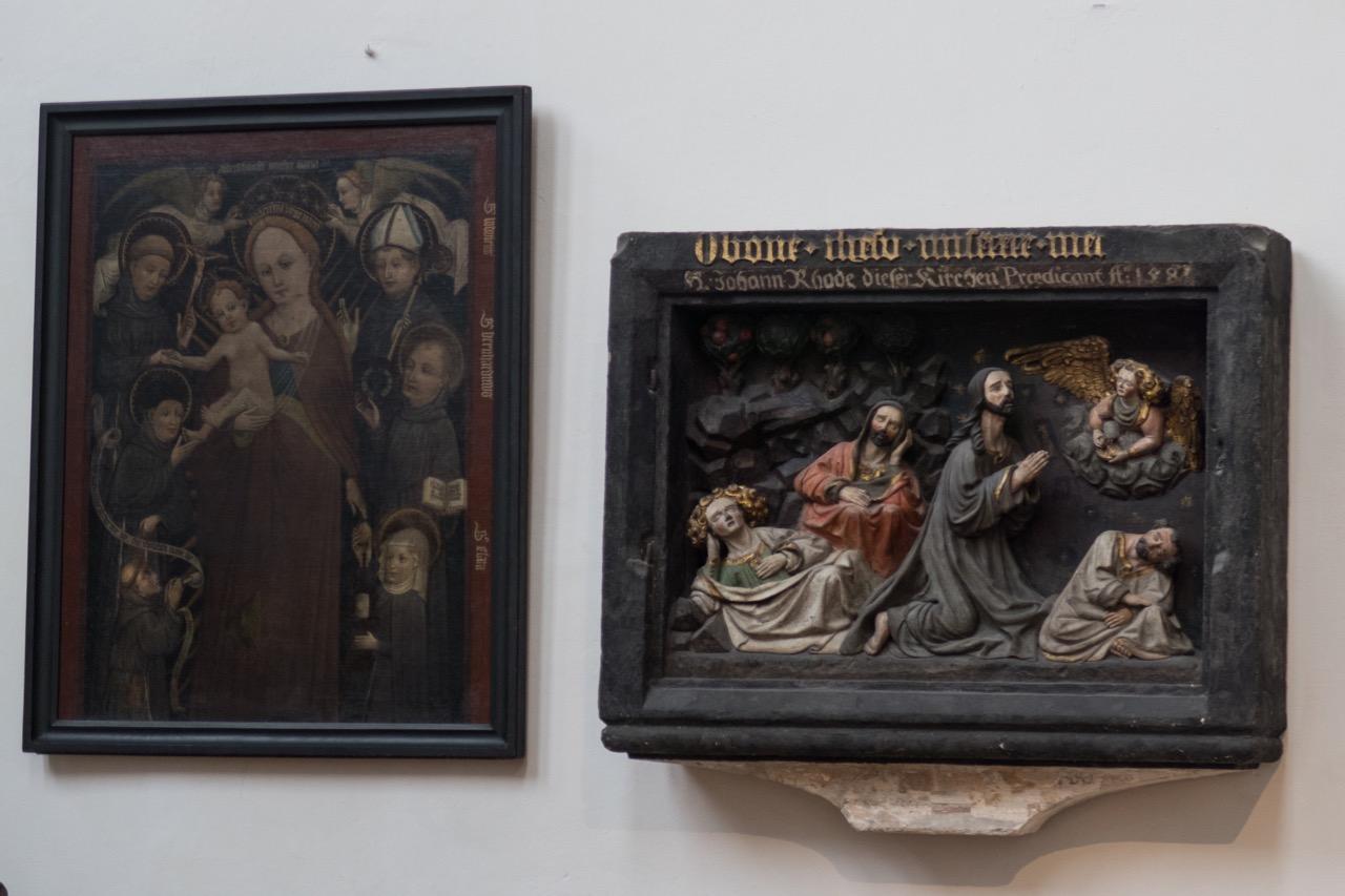 Bildtafeln Altarraum, Relief Gethsemane 15. Jh.