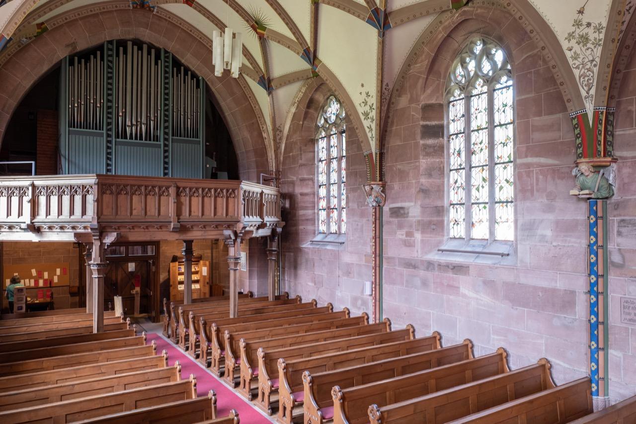 Innenansicht der Marienkapelle zur Orgelempore
