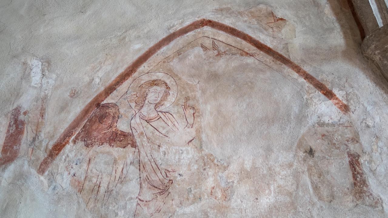 Freskenrest an der Ostwand (um 1365)