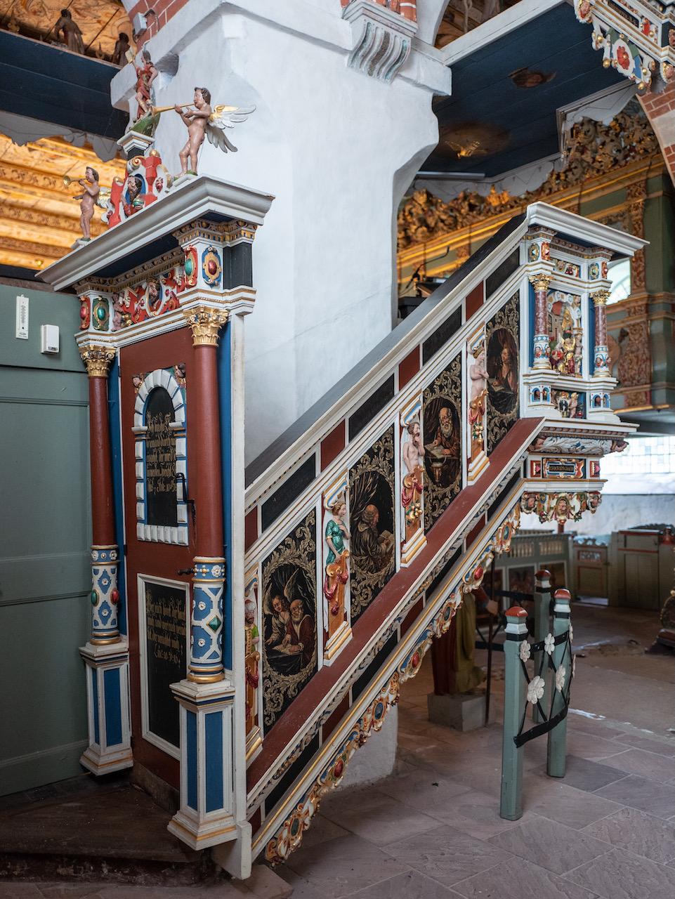 Kanzel, Treppe