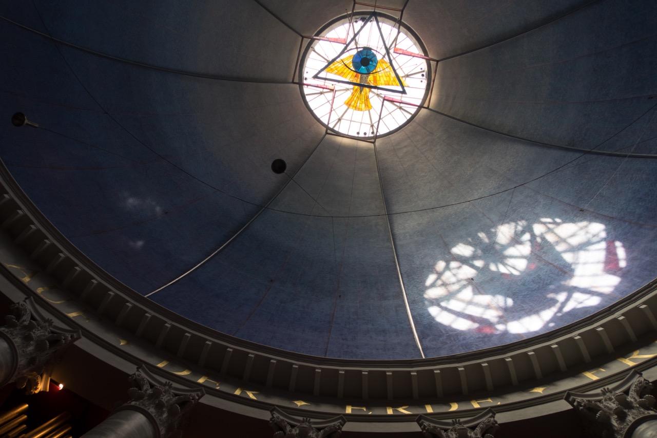 Kuppel, Durchmesser 33,5 Meter