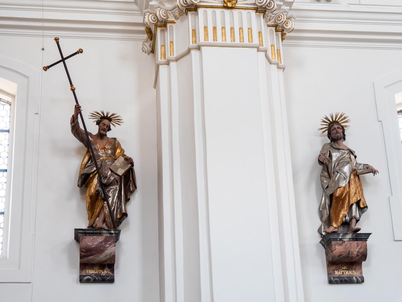 Apostelfiguren der hl. Philippus und Matthäus