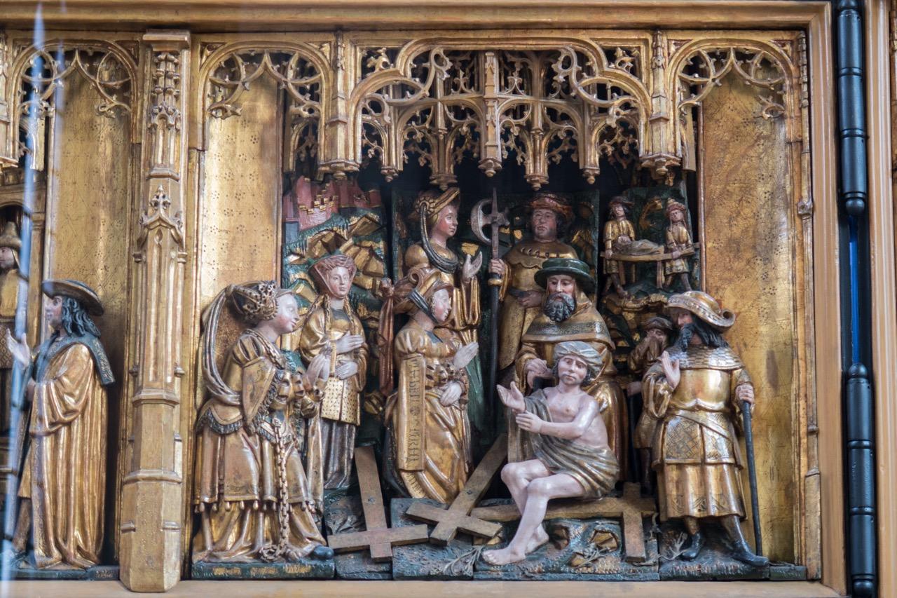 Flandrischer Altaraufsatz, Prüfung des wahren Kreuzes (1521)