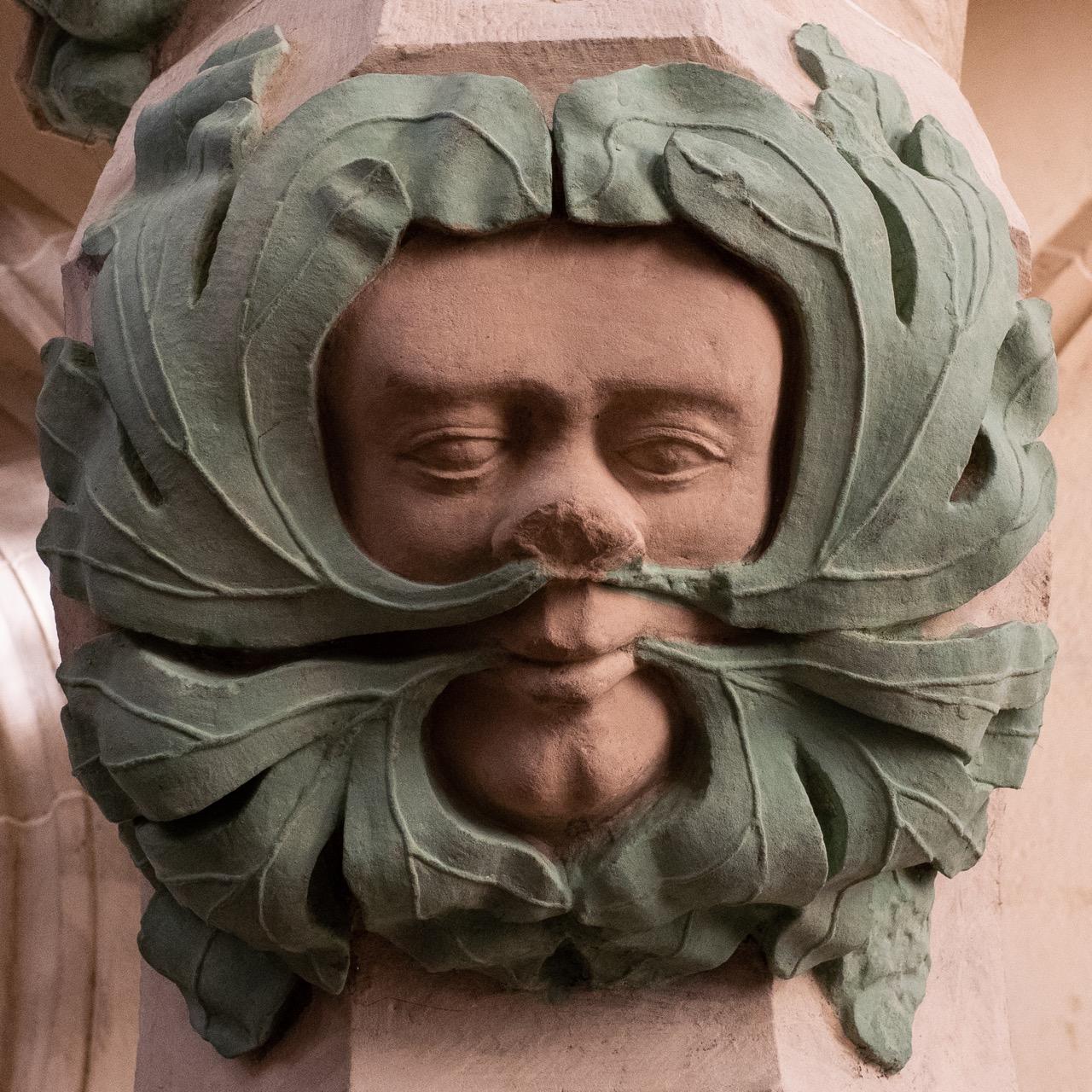 Blattmaske am Lettner