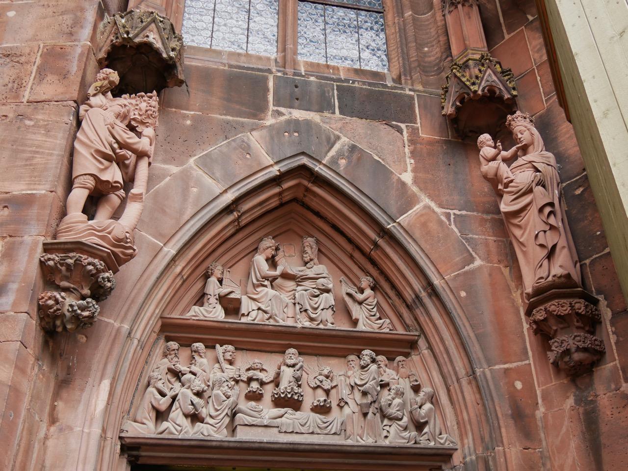 """""""Marienportal"""" aus der Parlerwerkstatt an der Chorsüdseite (um 1360)"""