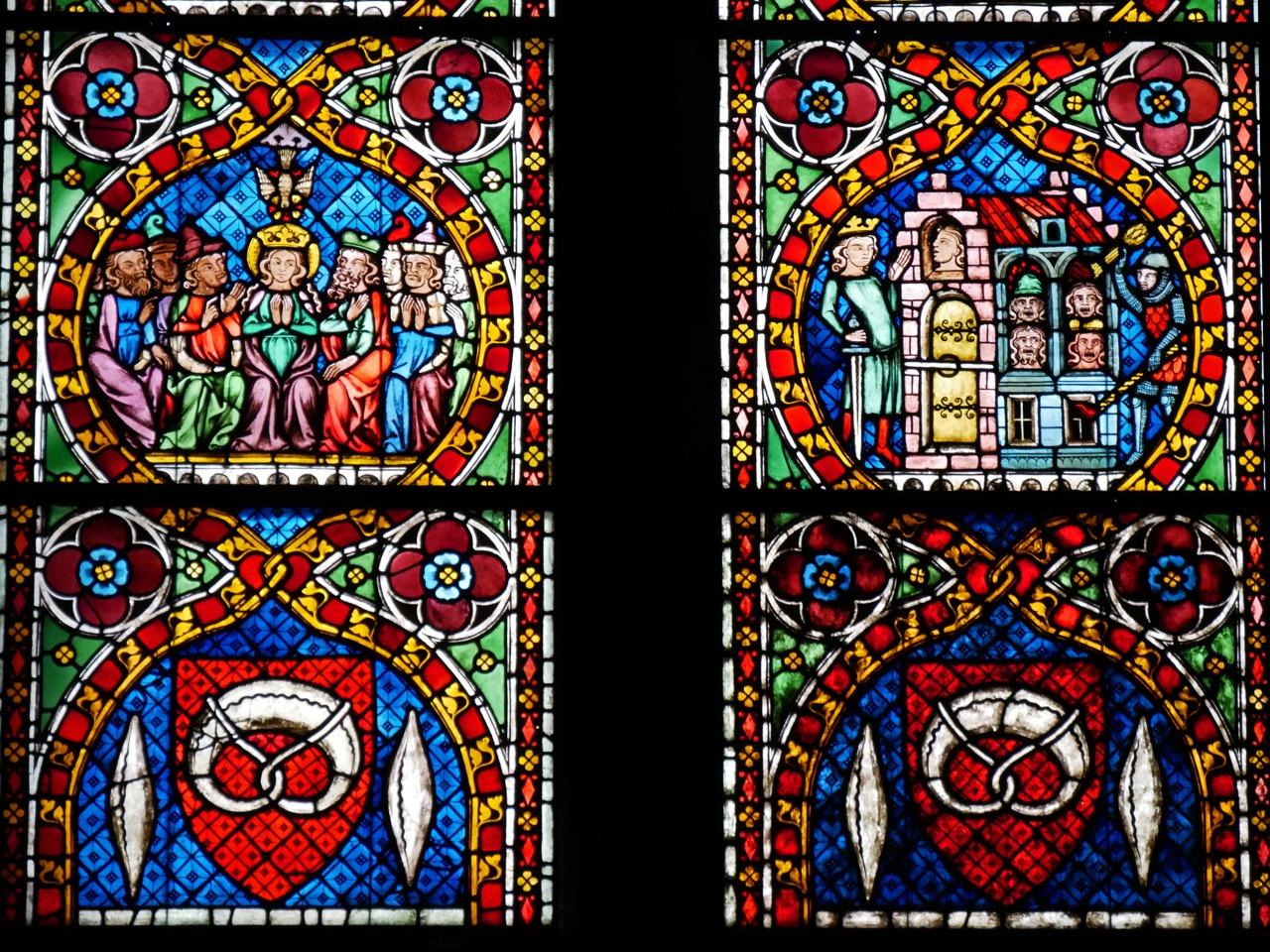 """""""Bäckerfenster"""" (1320/30), Detail"""