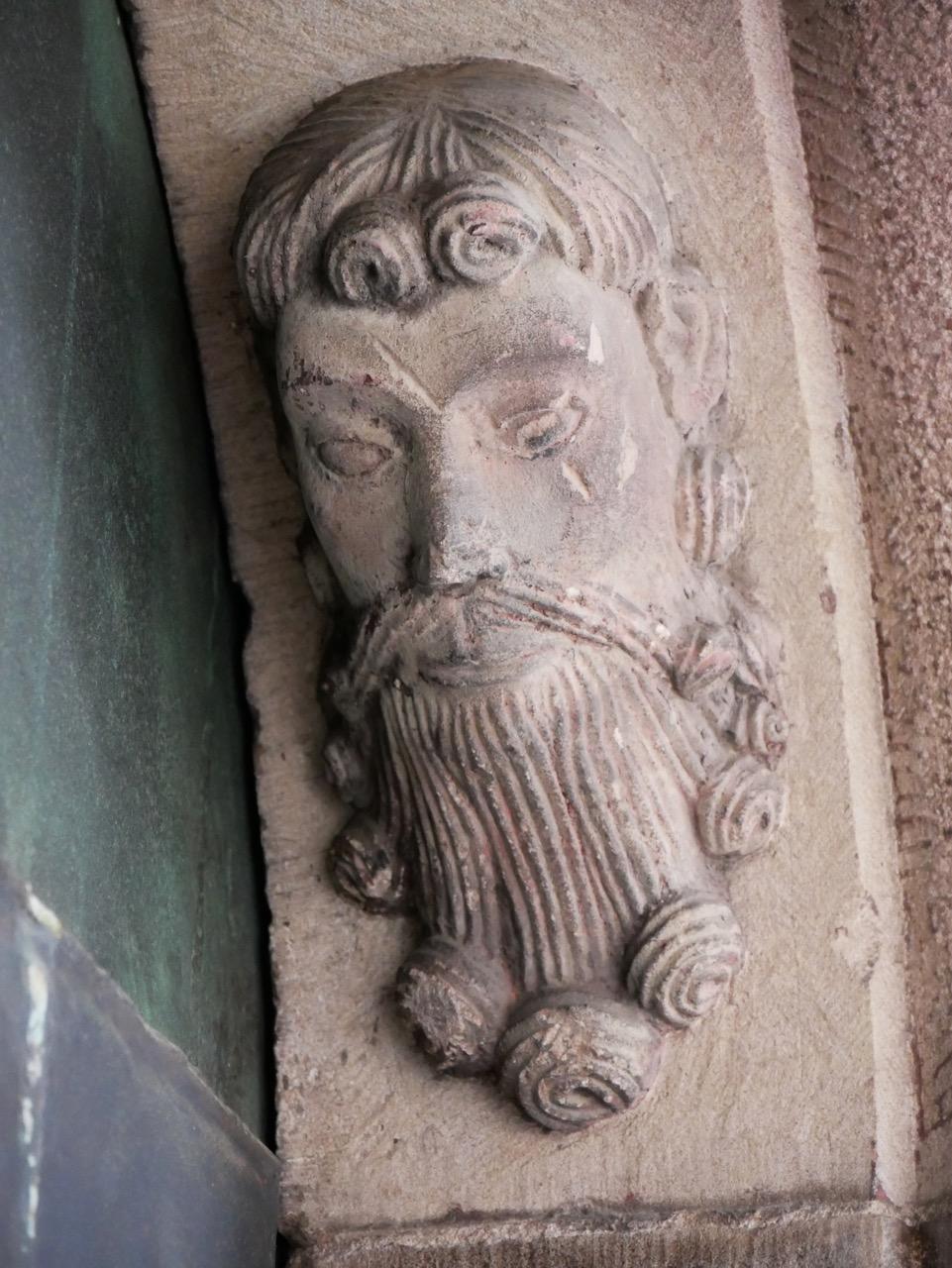 """Spätromanische """"Segenstür"""", Detail des Torbogens"""