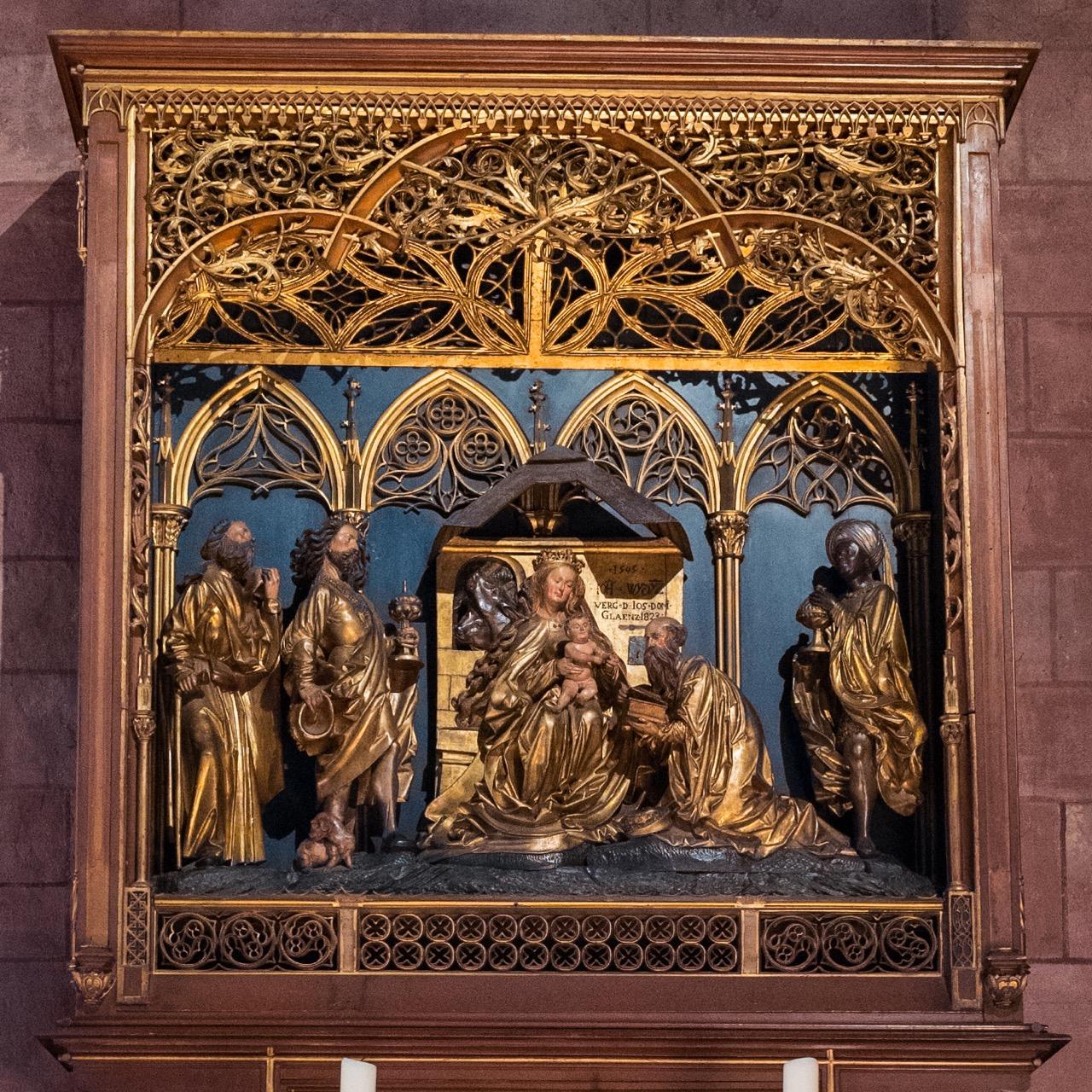 Dreikönigsaltar im südlichen Seitenschiff (Hans Wydyz, 1505)
