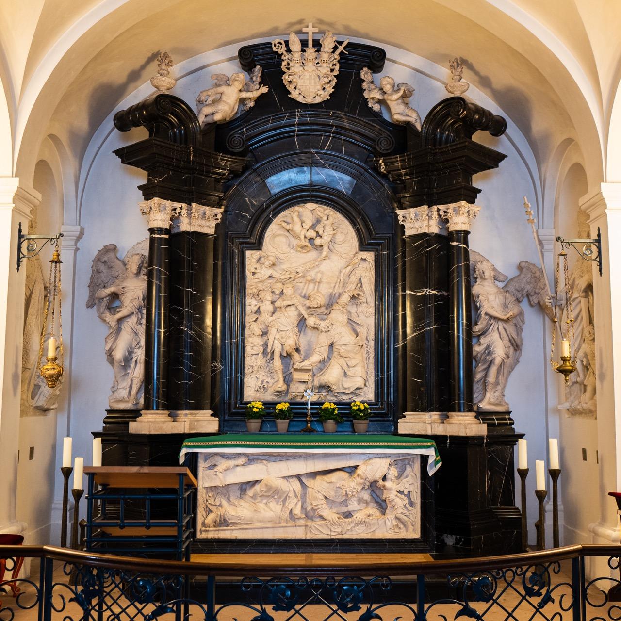 Altar über dem Bonifatiusgrab (Johann Neudecker d. Ä., 1705–10)