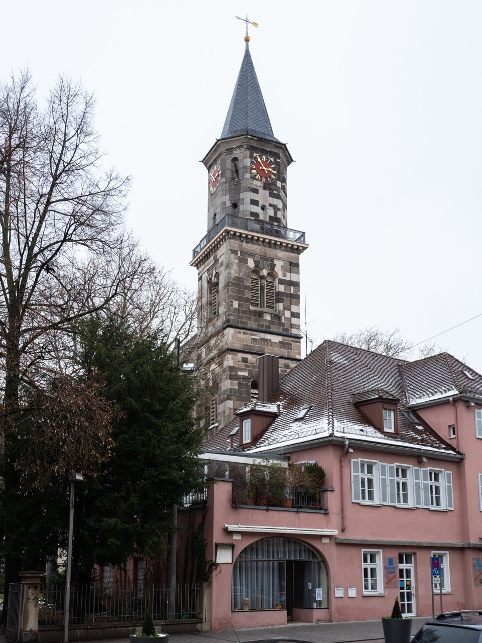 Ansicht des Turms von Südwesten