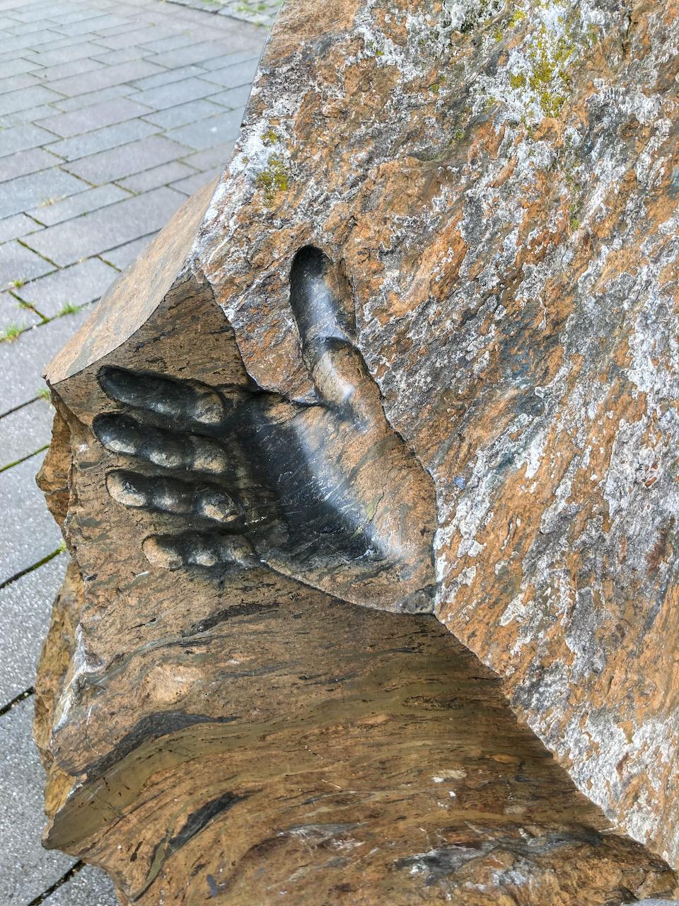 """Skulptur """"Hommage au Rammelsberg"""" (Christoph Wilmsen-Wiegmann, 2000), Detail"""