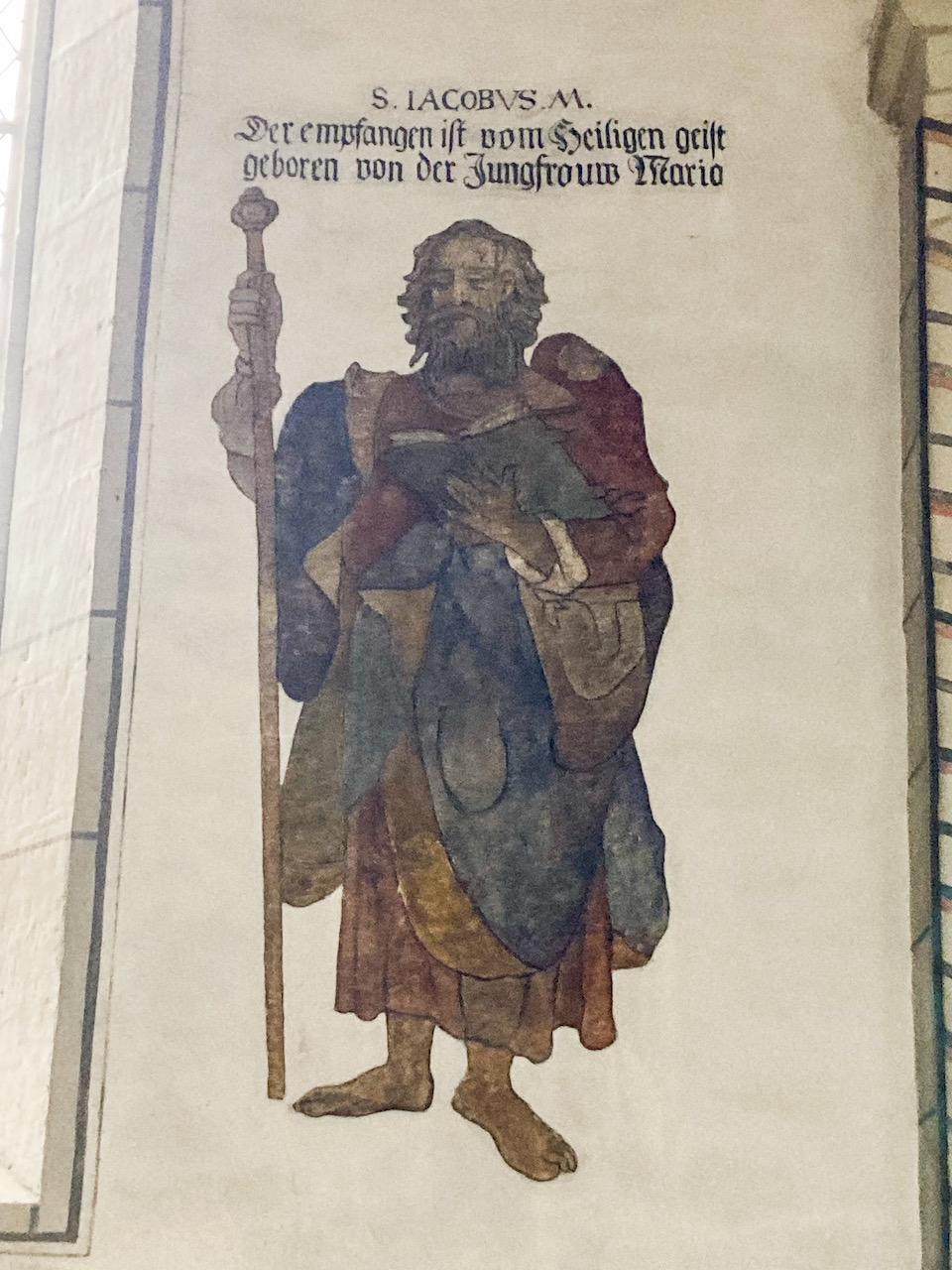 Wandbild des hl. Jakobus d. Ä. (frühes 16. Jh.)