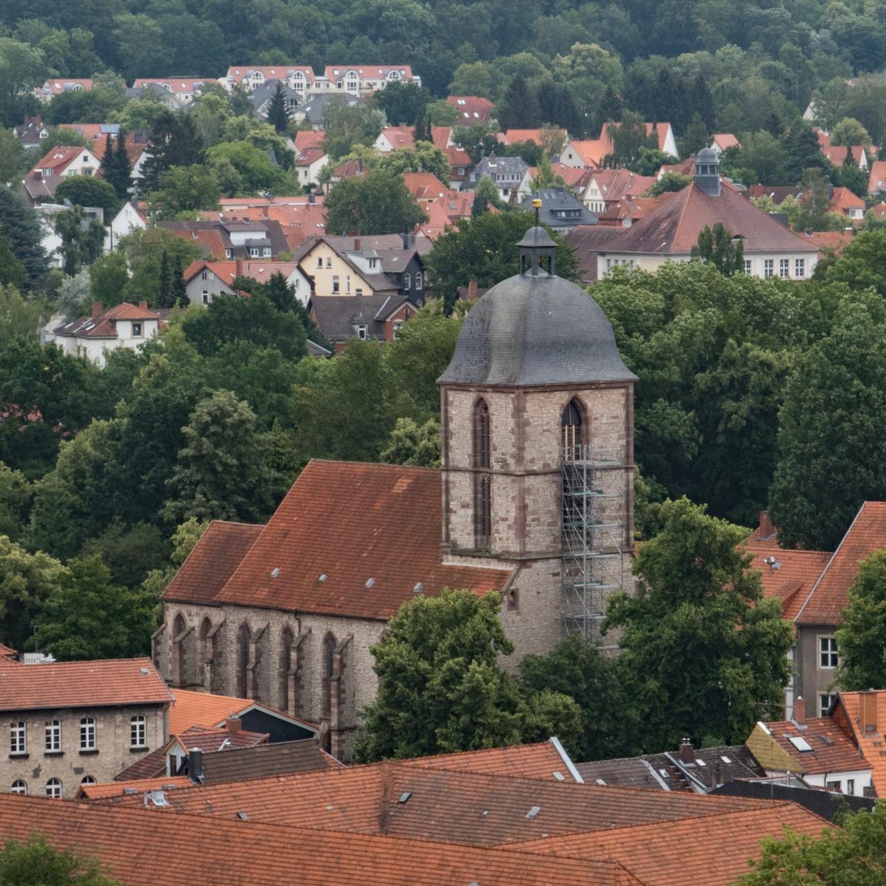 Ansicht von Nordwesten vom Jacobikirchturm aus