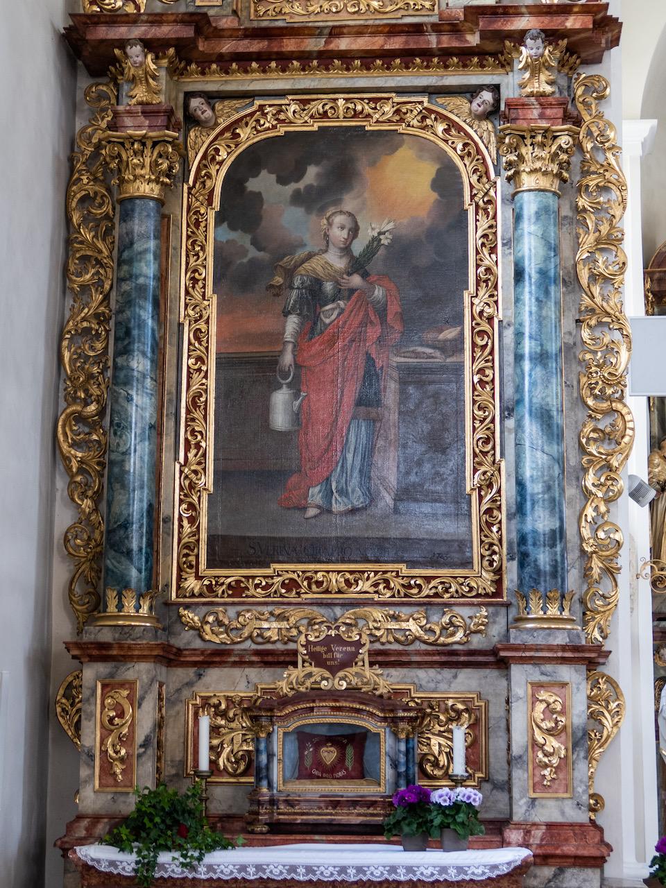 Linker Seitenaltar, der Verena geweiht