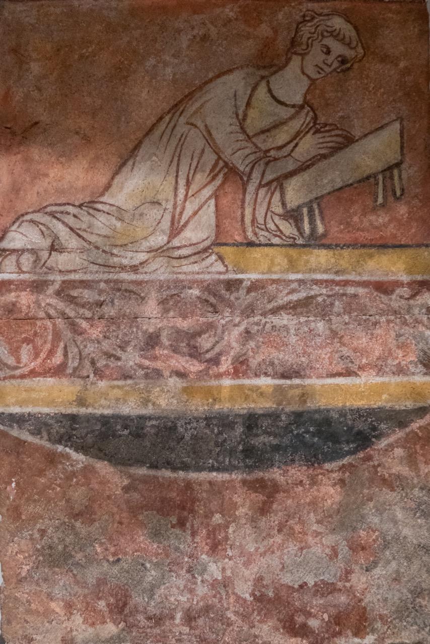Fresko in der Krypta