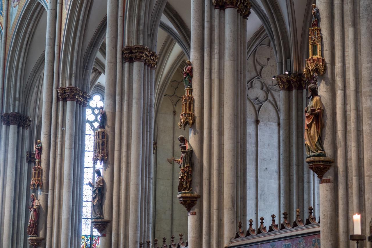 Köln, Dom, Chorpfeilerfiguren (um 1280)