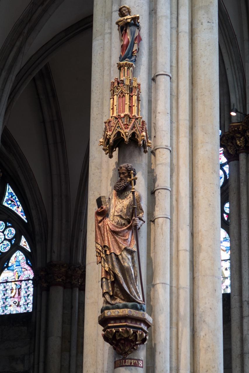 """Köln, Dom, Chorpfeilerfigur """"Philippus"""" (um 1280)"""