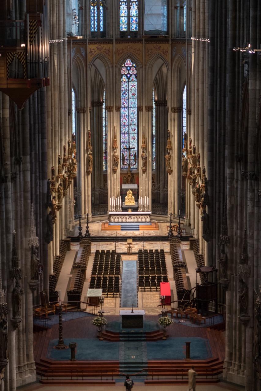 Köln, Dom, Chor vom Triforium aus gesehen