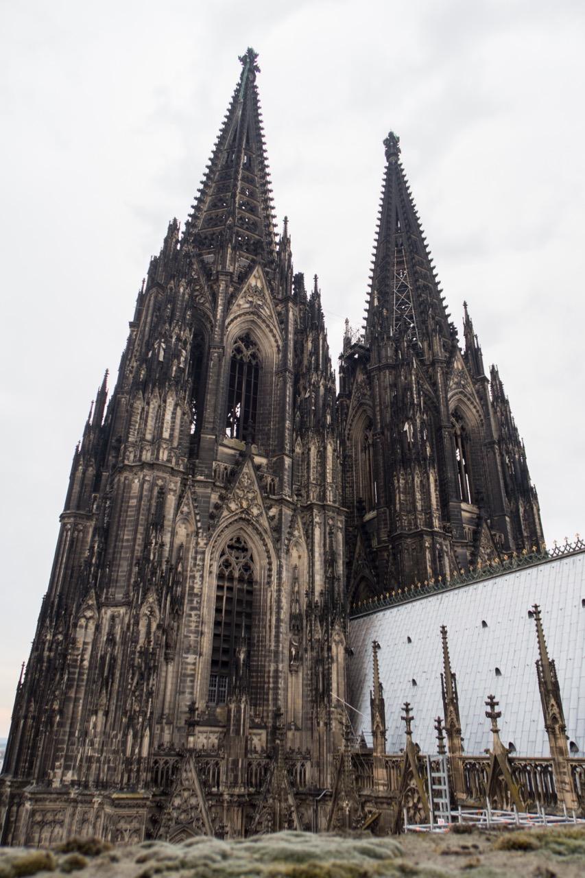 Köln, Dom, Westtürme vom Dach aus gesehen