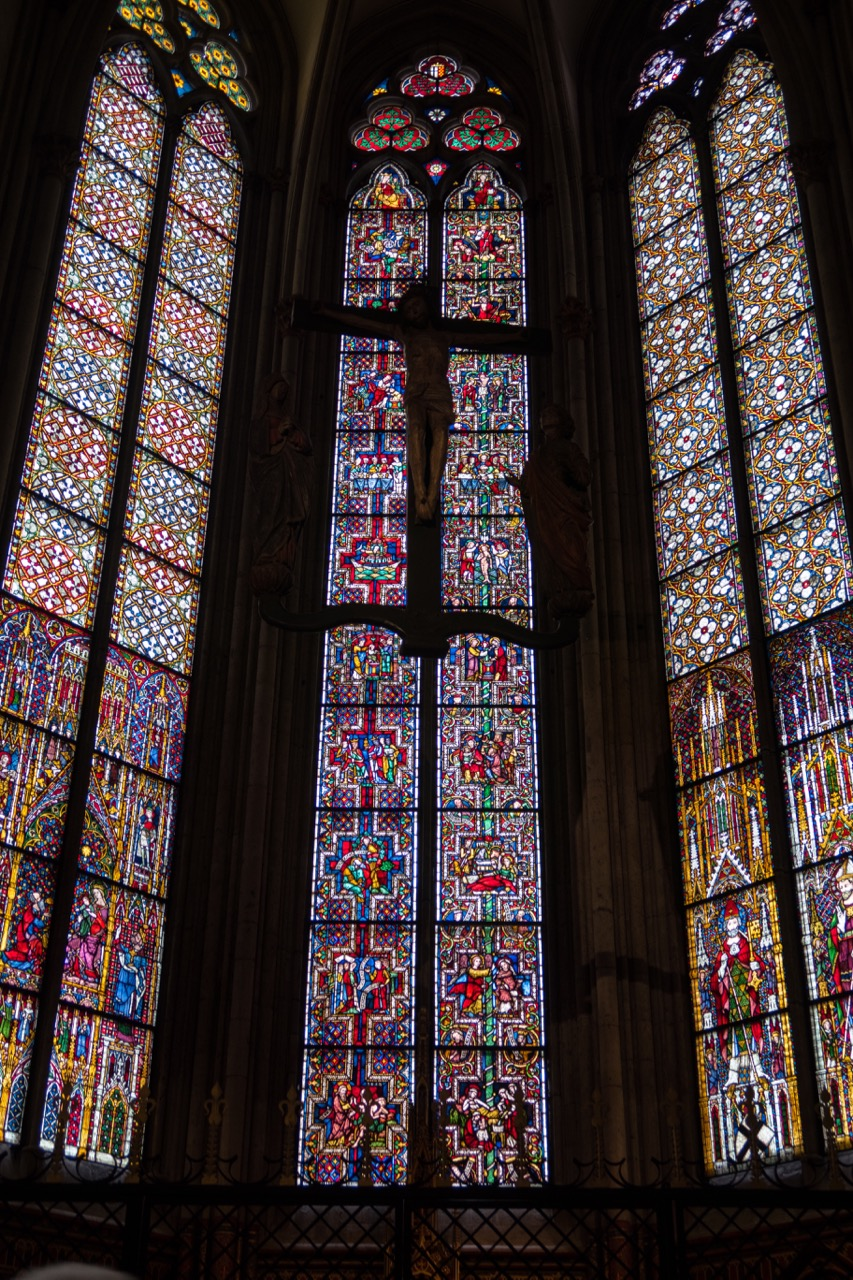 Köln, Dom, Fenster in der Achsenkapelle (1260)