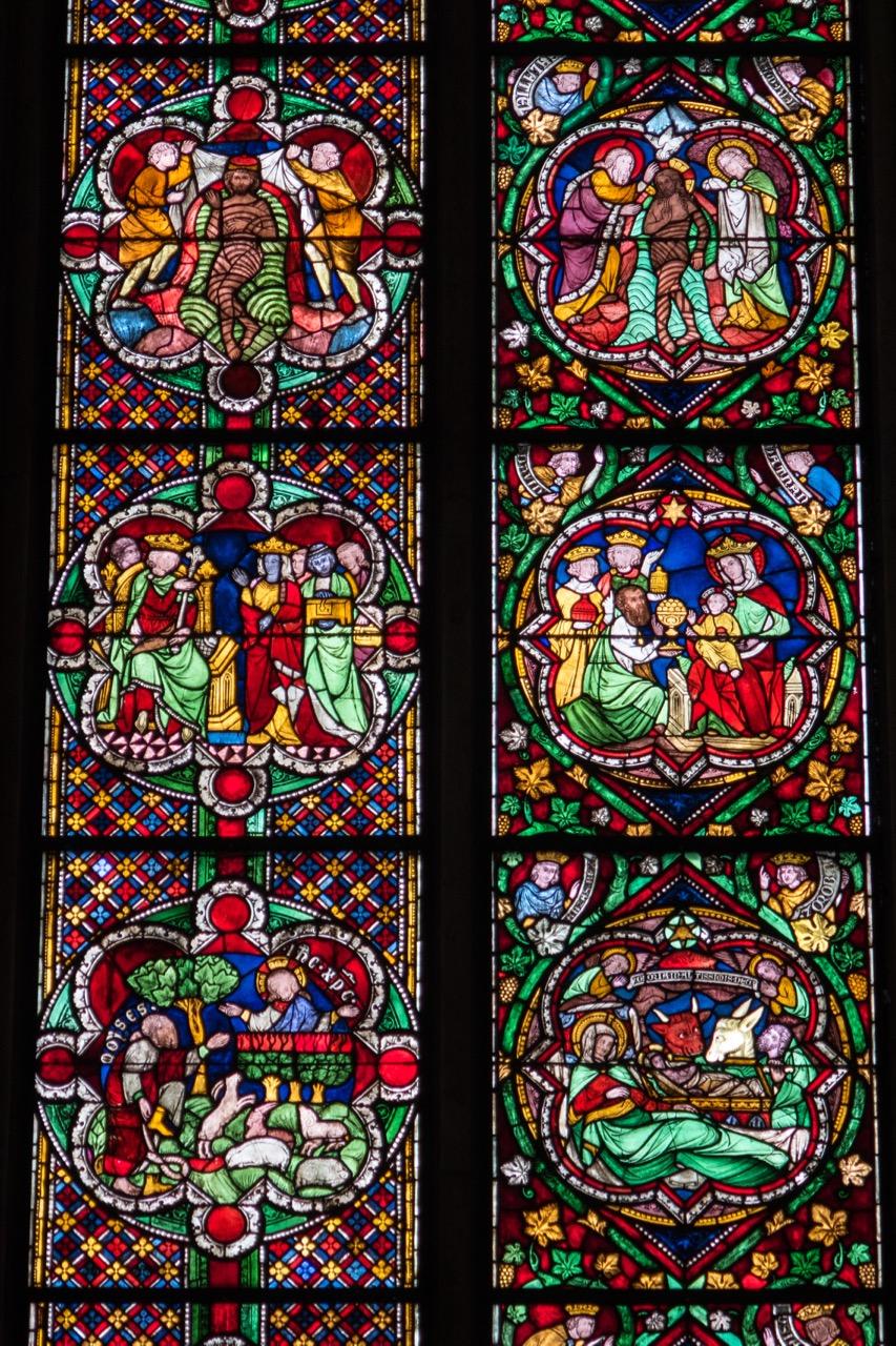 Köln, Dom, Fenster in der Achsenkapelle (1260), Detail
