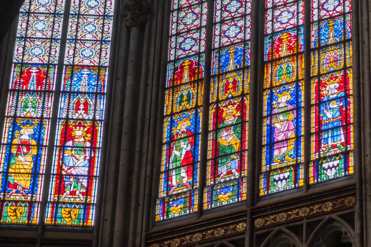 Köln, Dom, Königsfenster im Obergaden (14. Jh.)