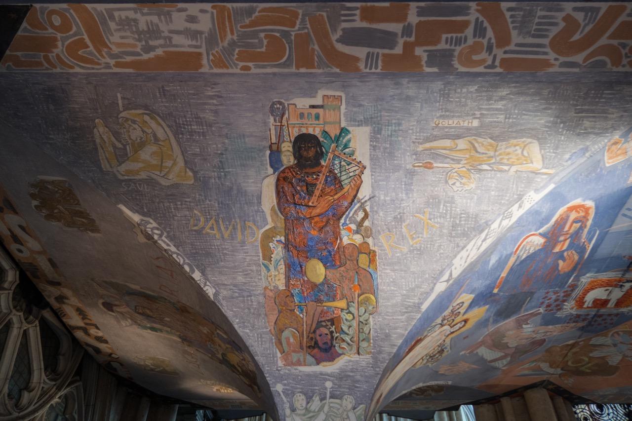 """Köln, Dom, Fresko """"König David"""""""