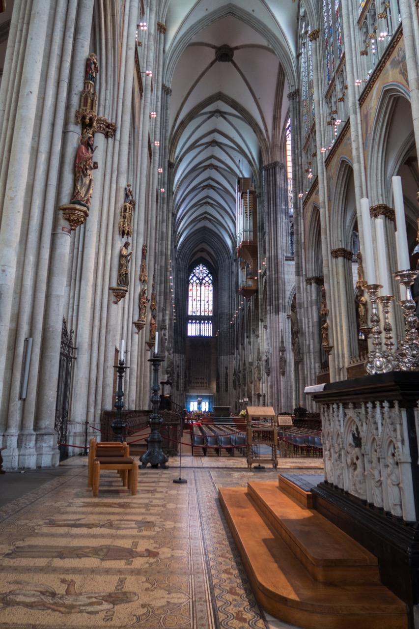 Köln, Dom, Innenansicht zur Westseite