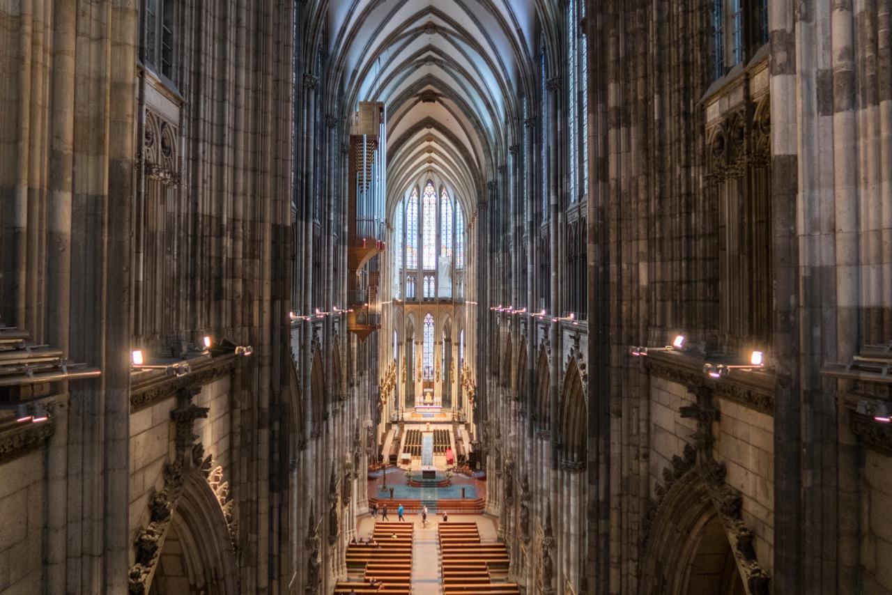 Köln, Dom, Innenansicht vom Triforium aus